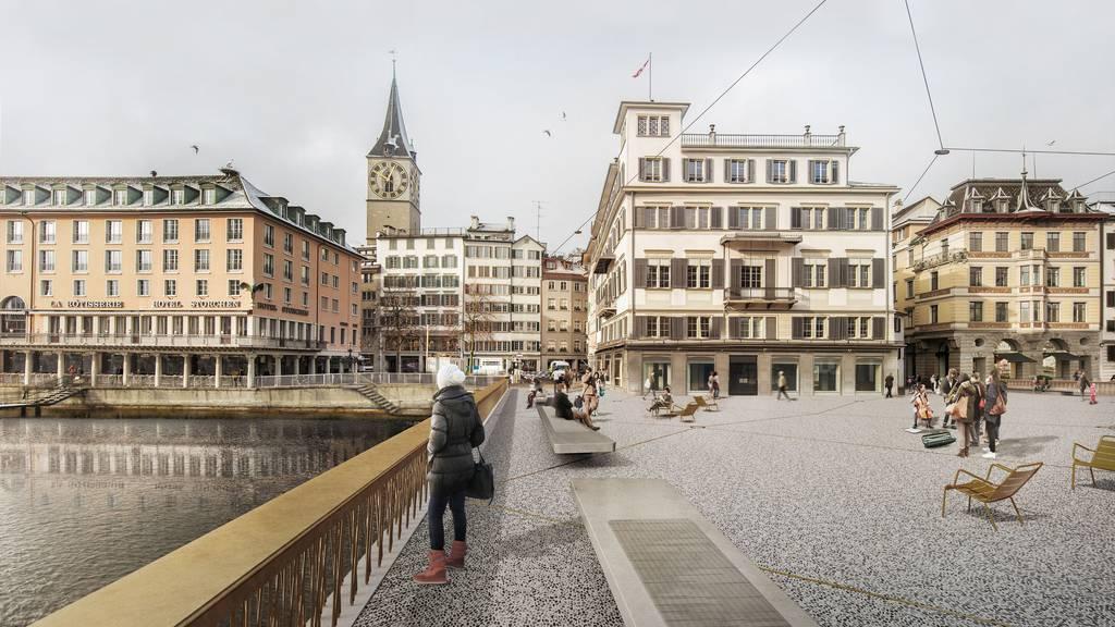 Visualisierung Platz Rathausbrücke Gemüsebrücke