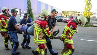 Sanitätsübung der Feuerwehr Villmergen