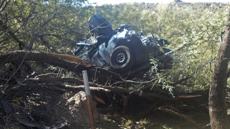 Die Frau kroch erst mehrere Tage nach dem Unfall im US-Bundesstaat Arizona aus dem Autowrack.