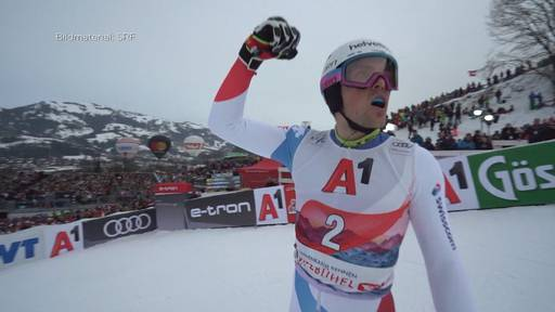 Kitzbühel: Daniel Yule triumphiert am Ganslernhang