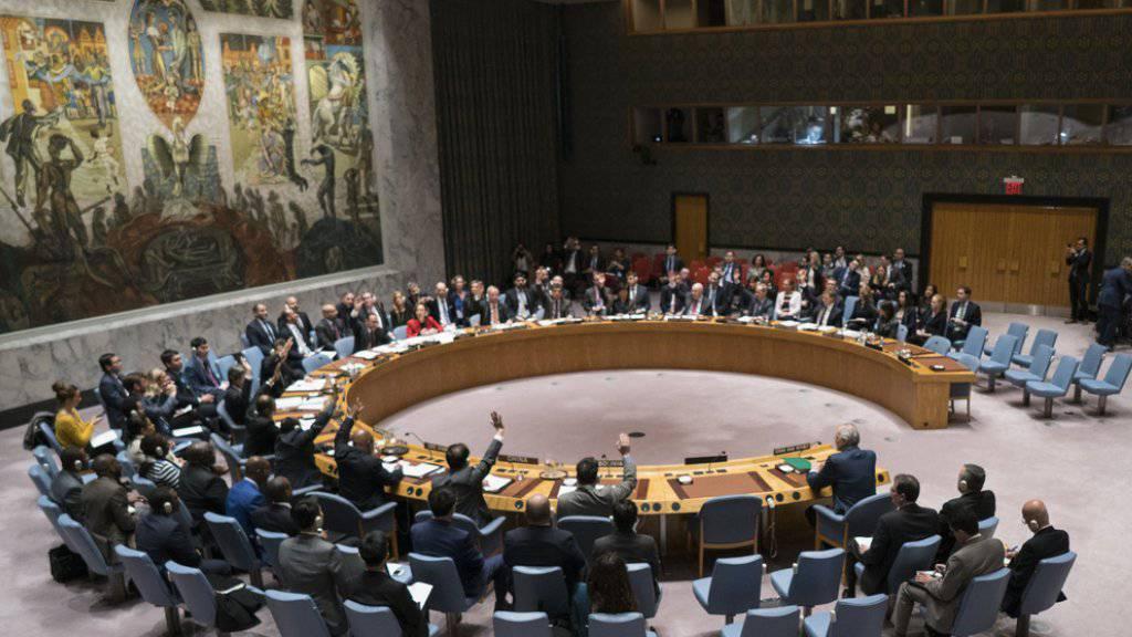 Die Abstimmung im Uno-Sicherheitsrat in New York zu Syrien begann mit zweistündiger Verspätung. Insbesondere Veto-Macht Russland hatte für Verzögerungen gesorgt.