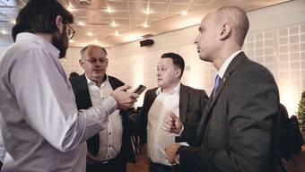 Wie weiter? SVP-Präsident Eduard Rutschmann (2. v. l.) nach der Niederlage bei den Wahlen 2019.