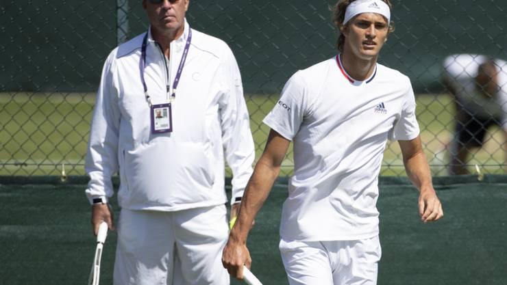 Alexander Zverev und Coach Ivan Lendl haben ihre Zusammenarbeit beendet