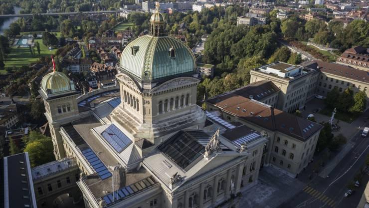 Sparbefehl über dem Bundeshaus (Archiv)