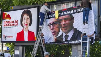 Bei der Präsidentschaftswahl in Nordmazedonien am Sonntag konnte kein Kandidat die Mehrheit auf sich vereinen - daher kommt es nun Anfang Mai zu einer Stichwahl. (Archivbild)