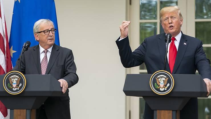 US-Präsident Donald Trump hat sich weiterhin positiv über die Gespräche zum Handelsstreit mit EU-Kommissionspräsidenten Jean-Claude Juncker geäussert.
