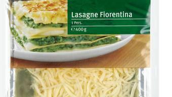 In gewissen vegetarischen Lasagnen ist wegen eines Abpackfehlers Lachs enthalten.