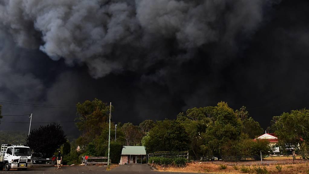 Buschfeuer in der Nähe von Sydney: Der giftige Rauch gefährdet die Menschen.