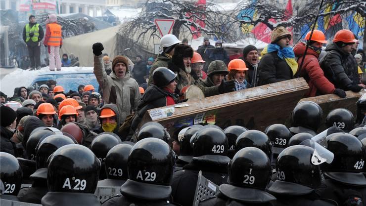 Vor fünf Jahren gingen in Kiew Demonstranten auf die Strassen, um für einen proeuropäischen Kurs zu kämpfen.VIKTOR DRACHEV/AFP/Getty Images