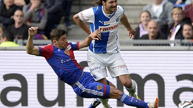 Davide Callà zog sich im Spiel gegen GC eine Wadenverletzung zu