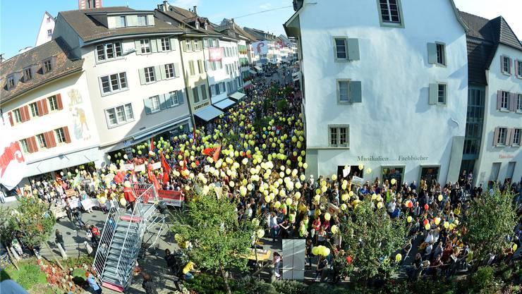 Bereits im September 2015 kam es zu grösseren Kundgebungen in Liestal.