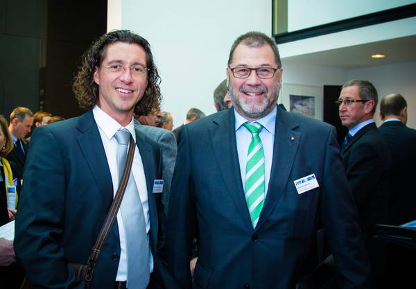 Marco an den Heuvel (Sanitas), Asana-CEO Alfred Zimmermann.