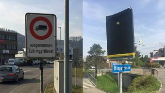 Nach den Mega-Staus wurde das Verbot doch aufgehoben: Die Ringstrasse vorher und nachher.