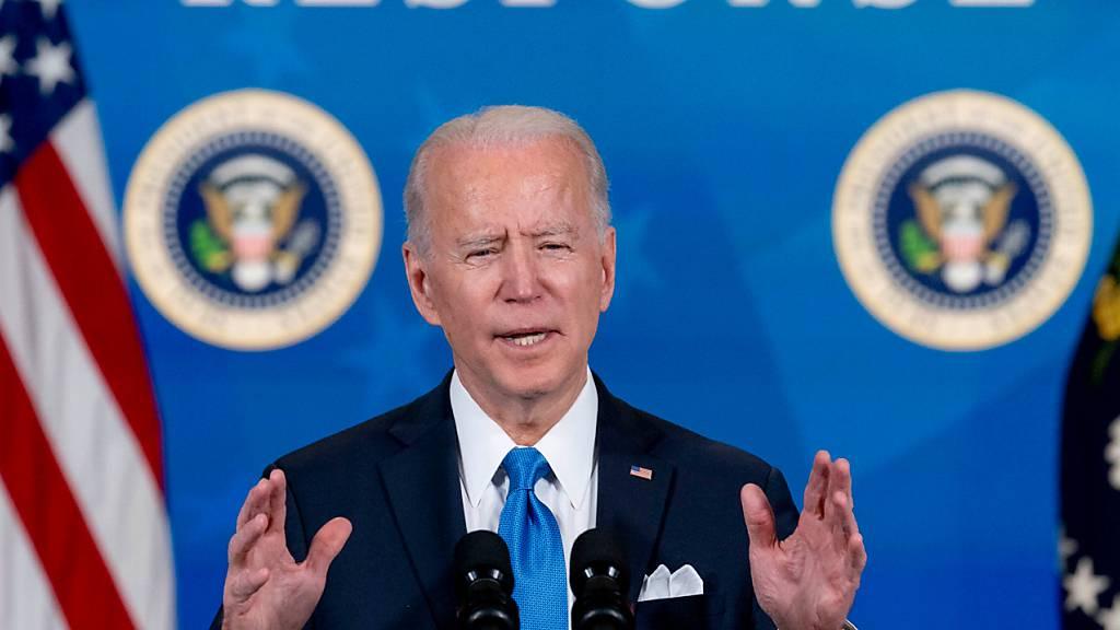 ARCHIV - US-Präsident Joe Biden hatte Nordkorea jüngst in einer Rede als «ernste Bedrohung» für die Sicherheit der USA und der Welt bezeichnet. Foto: Andrew Harnik/AP/dpa