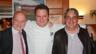 Sie stehen hinter der bereits 5. Auflage der «Route Gourmande» (v. l.): Daniel Dufaux, Andy Zaugg und Boris Walker.
