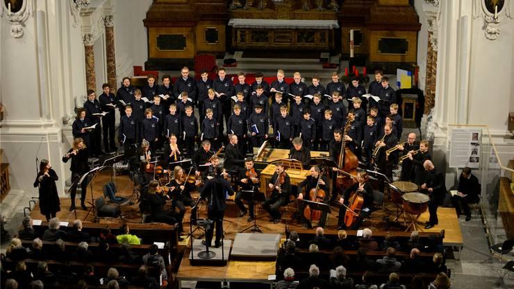 Die Singknaben sangen das Weihnachtsoratorium in der Jesuitenkirche und am Sonntagabend im Kofmehl.