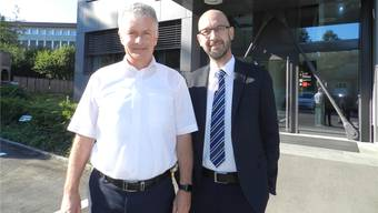 IBW-Direktor Peter Lehmann (links) mit Domenic Philipp, Geschäftsführer der IBW Energie AG. BA