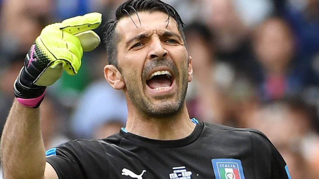 Italiens Torhüter-Ikone Gianluigi Buffon steht vor seinem 1000. Spiel als Profi
