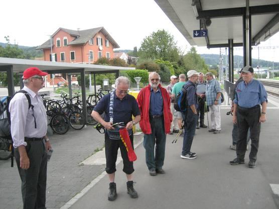 Bahnhof Otelfingen, vor der Heimfahrt.