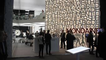 Der Stand von Mondaine an der Baselworld 2016.