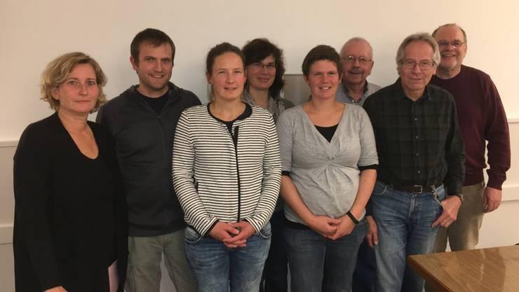 v.l.n.r.: Nicole von Arb, Kursleiterin; Philipp Fürst, Beatrice Nützi, Monika Keller, Christine Küchler-Nützi, Arnold Walther, Walter Hofer, Robert Lerch, Kursleiter