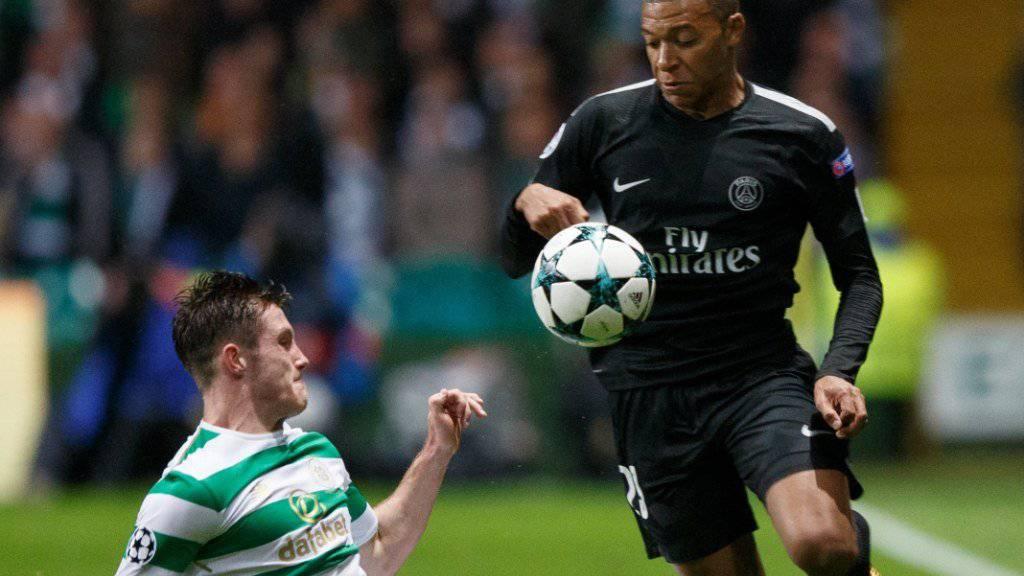 Gross eilt Klein davon: PSG-Mbappé gegen Celtics Anthony Ralston