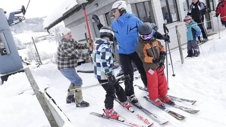 Skifahren in Lagenbruck.
