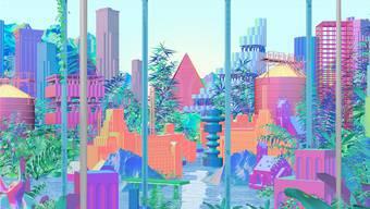 Die Stadt der Zukunft könnte ein dichter Dschungel aus Architektur und Natur sein.(ab) Normal