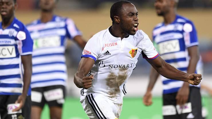 Der kolumbianische Verteidiger Eder Balanta schiesst den FC Basel in Lausanne zum Sieg.