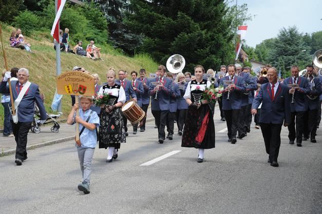 Die MG Lüterswil auf der Paradestrecke