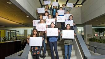 Angehörige von AZ-Mitarbeiter besuchten heute anlässlich des Zukunftstages das AZ-Mediencenter.