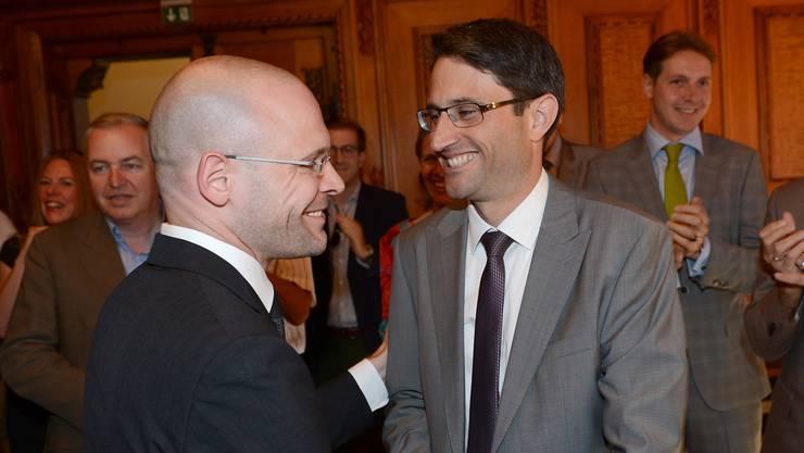 Die beiden wollen weitermachen: Baschi Dürr (links) und Lukas Engelberger (Archiv)