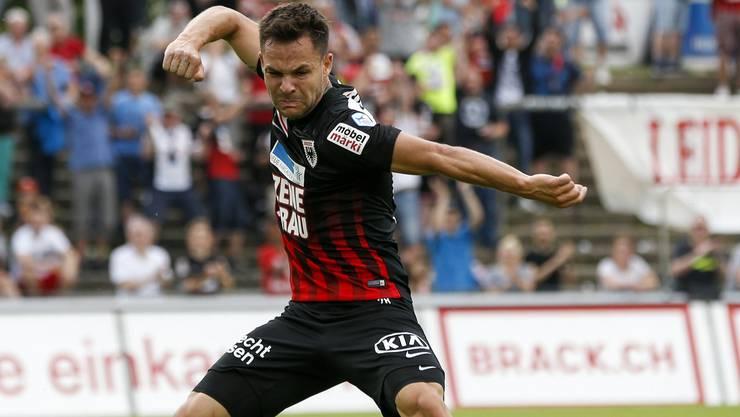 Stürmer Patrick Rossini sorgte mit seinen zwei Toren für den 2:0-Erfolg über Xamax.