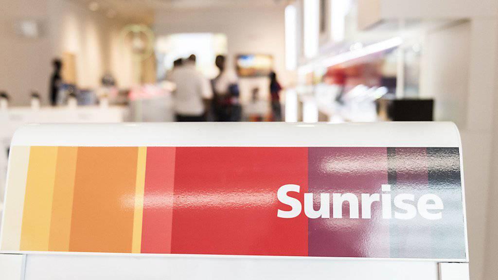 Das Schweizer Telekomunternehmen Sunrise hat in den ersten neun Monaten 2018 den Umsatz steigern können. (Archiv)