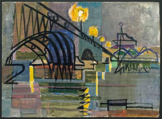 Das Ölbild «Brücke» entstand 1952 in Basel.