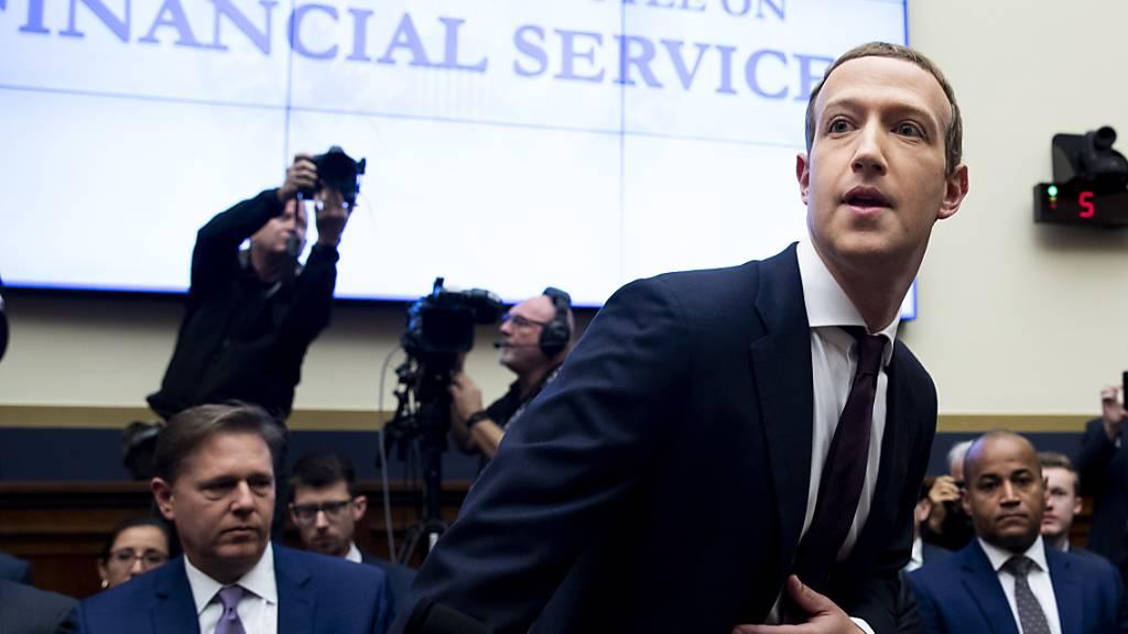 """Facebook-Gründer Mark Zuckerberg ist der """"Erfinder"""" von Libra. (Archivbild)"""