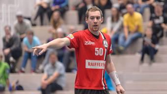 «Natürlich ist es unser klares Ziel, in die NLA aufzusteigen», so Nationalspieler Patrick Mendelin. Dieser weibelt nicht nur als Best Player sondern auch als Sportchef.