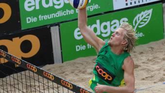 Der Norweger Lars Retterholt kämpfte mit seinem Partner Jan Erik Moen um jeden Punkt. Am Ende reichte es aber zu keinem Sieg in den beiden Spielen, folglich ist das Turnier für die Norweger zu Ende.