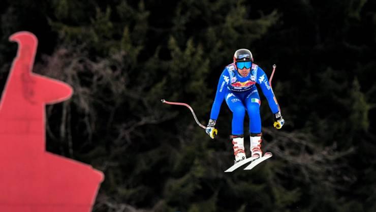 Matteo Marsaglia überrascht im Training in Kitzbühel mit der hohen Nummer 54