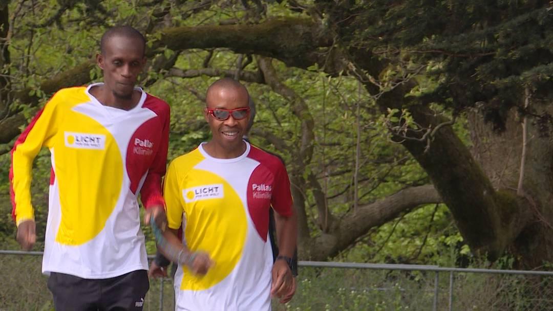 Blindenläufer am Zürich Marathon