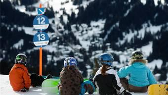 Gute Bedingungen für Kinder in Skilagern: Die Pisten hoch über der Lenzerheide.