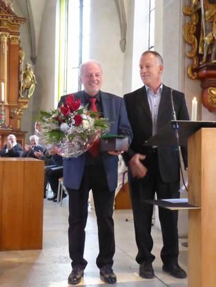 Ehrung von Ruedi Schumacher für 40 Jahre Chorleitung