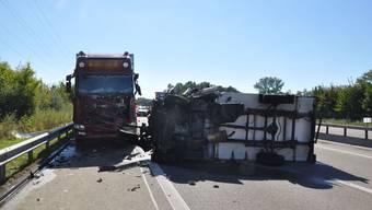 Unfall auf A1 bei Derendingen: Lieferwagen knallt in Unterhaltsfahrzeug
