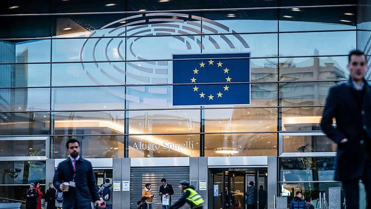 ARCHIV - Die Sitzungswoche des Europaparlaments im französischen Straßburg ist wegen der Corona-Pandemie abgesagt worden. Die September-Sitzung in der kommenden Woche werde stattdessen in Brüssel stattfinden. Foto: Michael Kappeler/dpa