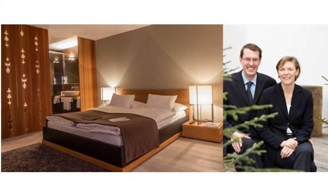 Die Gastgeber des «Schweizerhofs» in Lenzerheide: Andreas und Claudia Züllig-Landolt. Ihr Haus gehört zu den 100 freundlichsten Hotels der Schweiz.