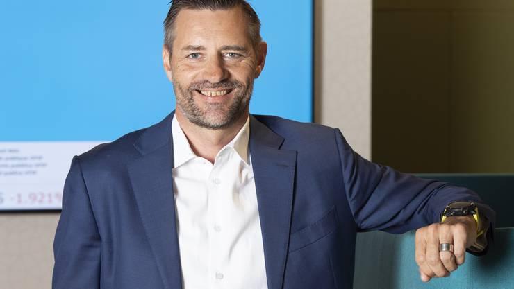 Stefan Schenkel am Hauptsitz in Aarau.