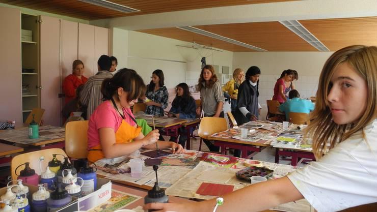 Die Schülerinnen und Schüler der siebten Klassen befassten sich in der Projektwoche mit der Kunst. Foto: knr