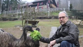 Pius Müller, der Präsident des Vereins Tierpark, will den Betrieb mit den 200 Tieren möglichst bald in neue Hände übergeben.