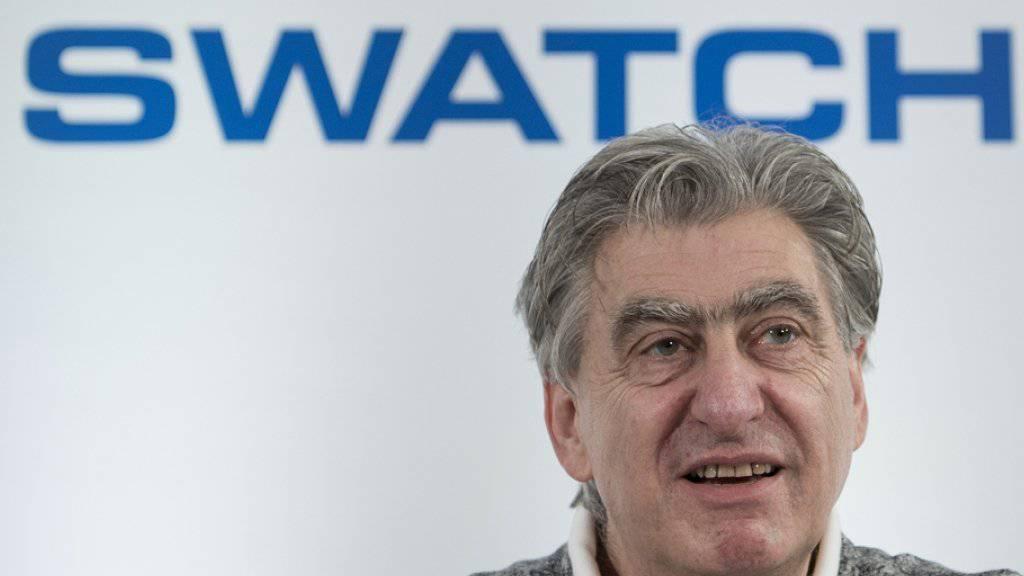 Swatch-Chef Nick Hayek vermeldet für das erste Halbjahr zwar einen höheren Gewinn und mehr Umsatz. die Erwartungen erfüllt er damit jedoch nicht ganz. (Archiv)