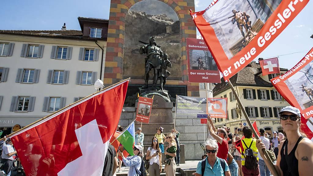 Im vergangenen Herbst war es in Altdorf zu einer Demonstration von Gegnern der Corona-Massnahmen gekommen – eine erneute Bewilligung gibt es nicht. (Archivbild)